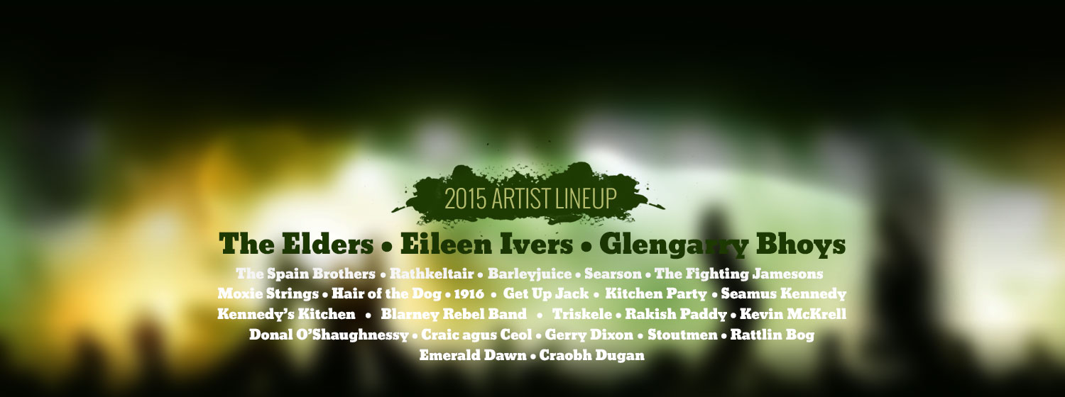 2015 Great American Irish Fest Band Lineup